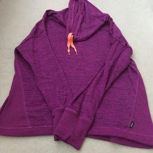 Women's RBX Cowl Neck Purple Sweatshirt Size Large